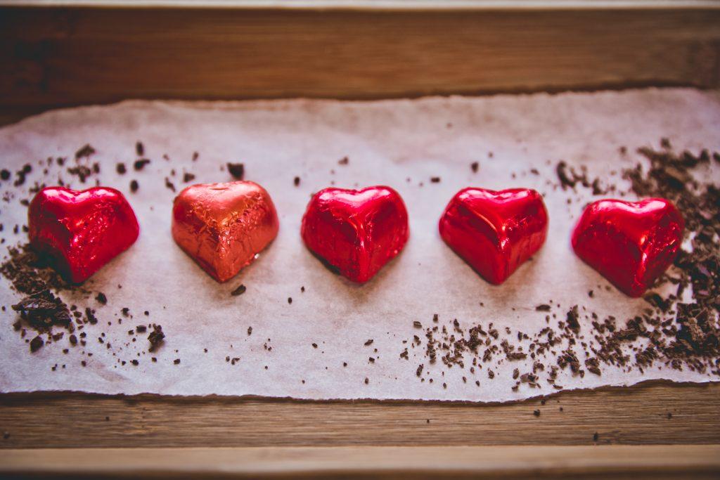 Love heart chocolates