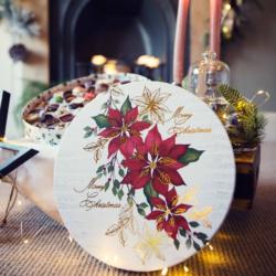 Poinsettia Christmas Collection Box
